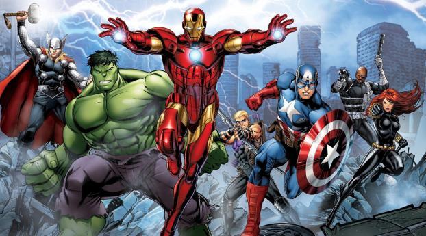 HD Wallpaper | Background Image Marvel's Avengers Assemble Comic