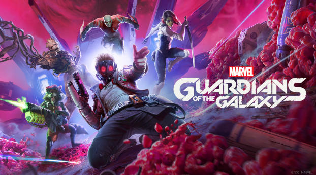 Marvel's Guardians of the Galaxy Game Wallpaper 1366x768 Resolution