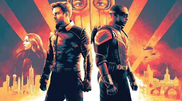 Marvel TFATWS Poster Wallpaper
