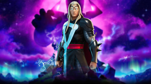 Marvel Thor Fortnite Wallpaper in 360x640 Resolution