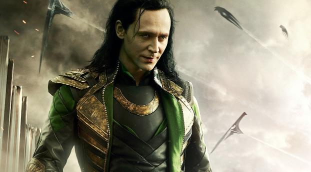 Marvel Tom Hiddleston as Loki Wallpaper