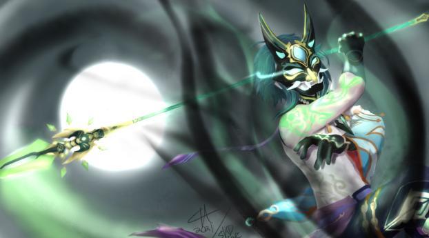 Masked Xiao Genshin Impact Wallpaper