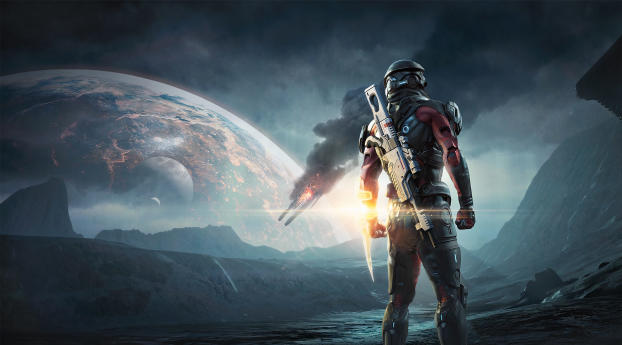 HD Wallpaper   Background Image Mass Effect Andromeda Poster