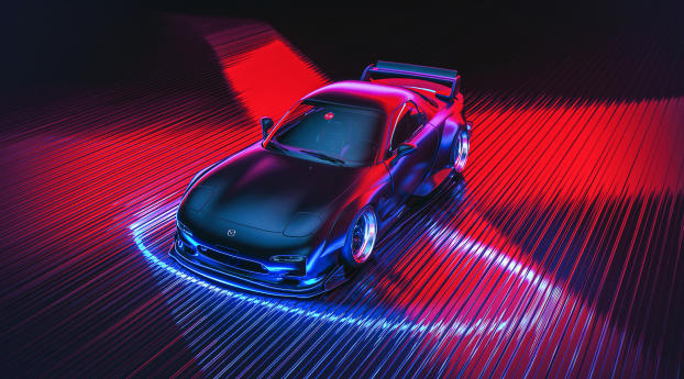 1280x21 Mazda Rx 7 Digital Art Iphone 6 Plus Wallpaper Hd Cars 4k Wallpapers Images Photos And Background