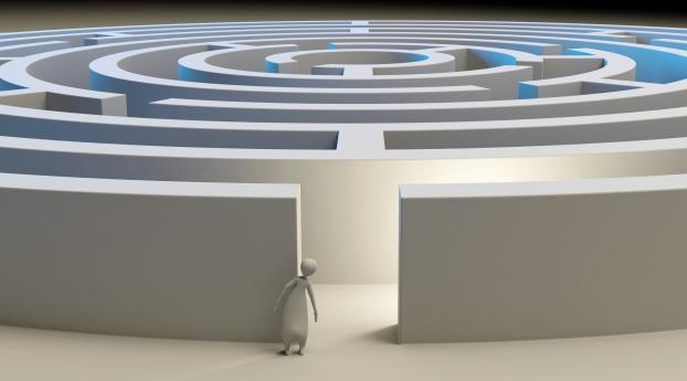 maze, 3d, figure Wallpaper in 2560x1440 Resolution
