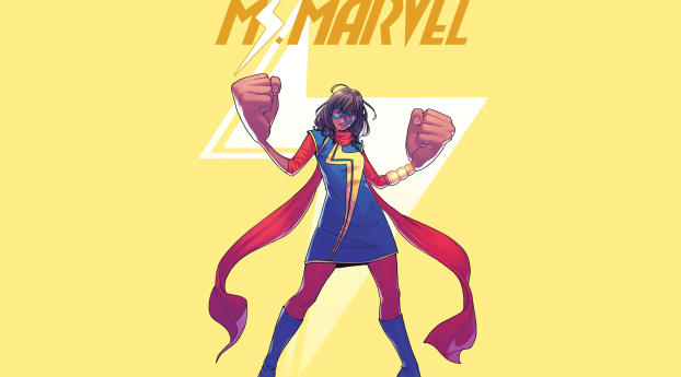 HD Wallpaper   Background Image MCU Kamala Khan As Ms. Marvel