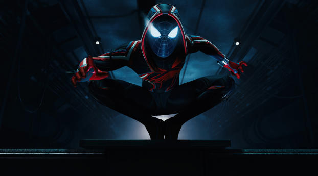 Miles Morales Digital Art Wallpaper in 1080x2280 Resolution