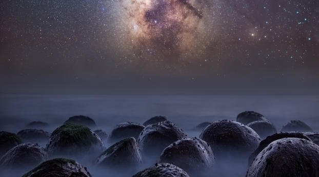 wxl milky way over the bowling ball beach 64693