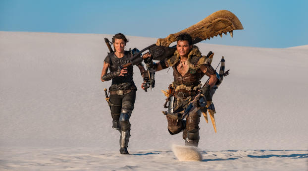 HD Wallpaper | Background Image Milla Jovovich and Tony Jaa In Monster Hunter