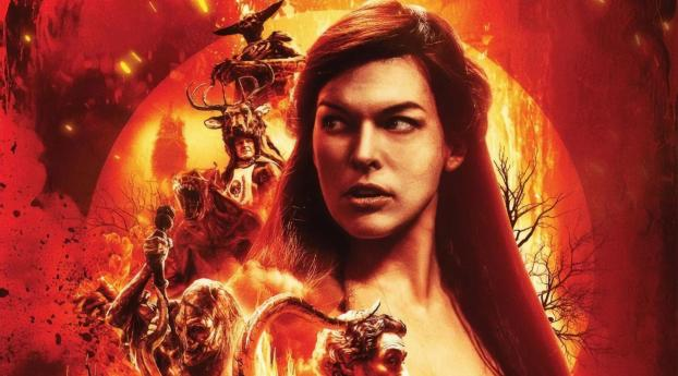 HD Wallpaper | Background Image Milla Jovovich Hellboy Movie Poster