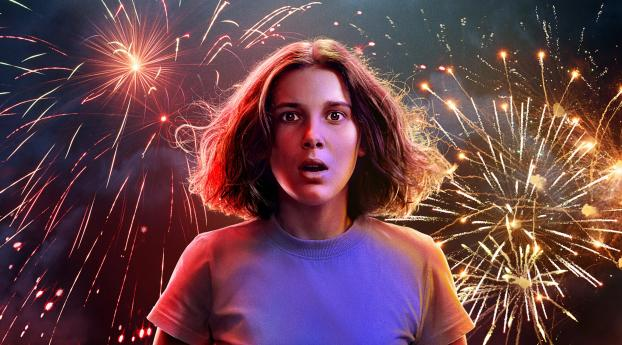 Millie Bobby Brown As Eleven Stranger Things 3 Poster Wallpaper in 720x1520 Resolution