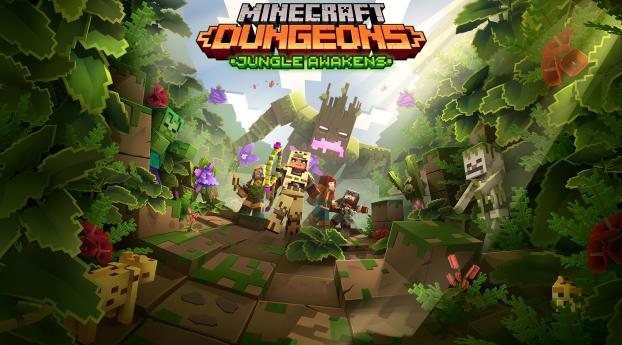Minecraft Dungeons Jungle Awakens Wallpaper