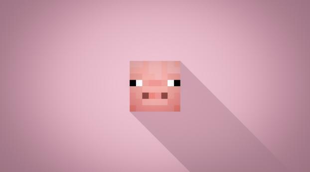 HD Wallpaper | Background Image Minecraft Minimalist Pig