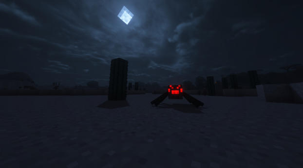 HD Wallpaper | Background Image Minecraft Spider Man Into The Night