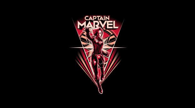 Minimal Captain Marvel Wallpaper 1336x768 Resolution
