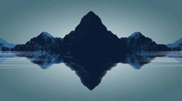 HD Wallpaper | Background Image  Minimal Mountains