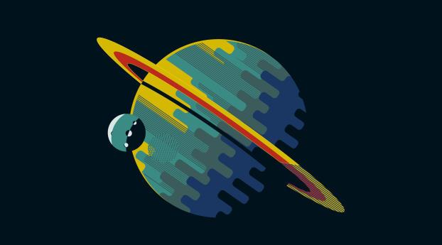 Minimal Planet Art Wallpaper 750x1334 Resolution