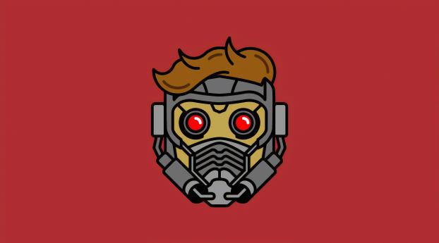 HD Wallpaper | Background Image Minimal Star Lord Mask