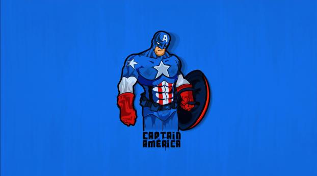 Minimalist Captain America Wallpaper