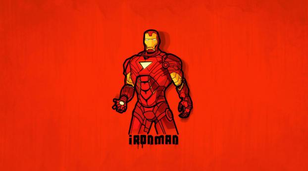 HD Wallpaper | Background Image Minimalist Iron Man