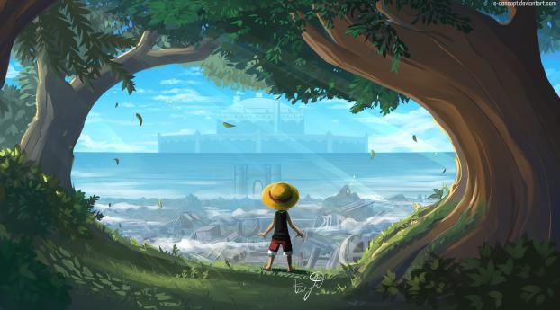 HD Wallpaper | Background Image Monkey D Luffy One Piece Art