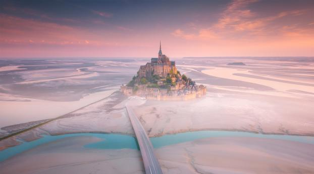 Mont Saint Michel France Wallpaper 1152x864 Resolution