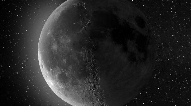 HD Wallpaper | Background Image Moon From Space 4K