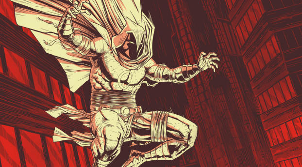 HD Wallpaper | Background Image Moon Knight Marvel Comic Art