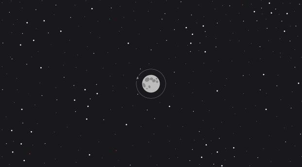 Moon Space Minimal Wallpaper
