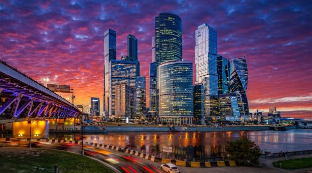 HD Wallpaper | Background Image Moscow City At Night