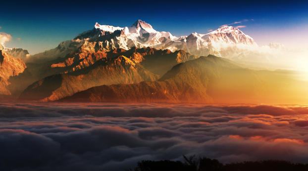 HD Wallpaper | Background Image Mountains In Clouds