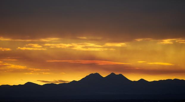 Mountains Silhouette During Sunset Wallpaper 750x1334 Resolution