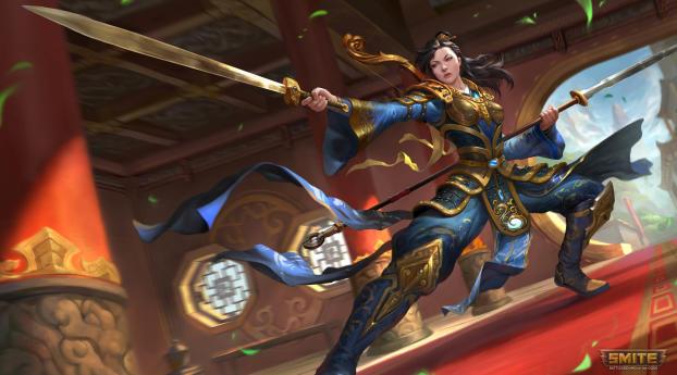 HD Wallpaper | Background Image Mulan in Smite