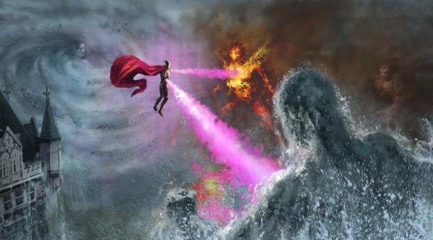 HD Wallpaper | Background Image Mysterio vs Elementals