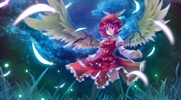 1242x2688 Mystia Lorelei Girl Wings Iphone Xs Max