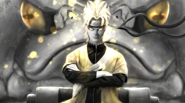 Naruto Uzumaki Orange Eyes Wallpaper