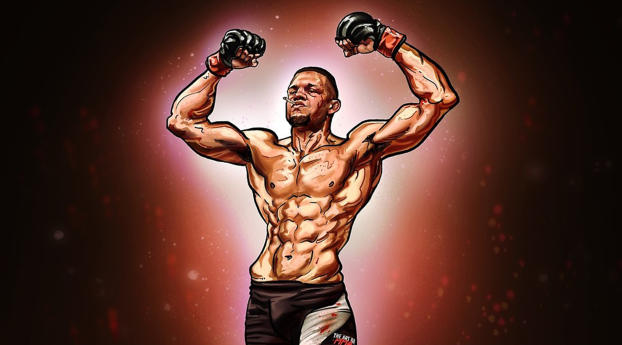 HD Wallpaper | Background Image Nate Diaz Art
