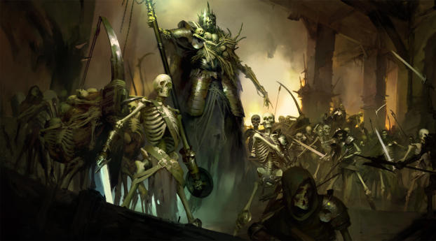 HD Wallpaper | Background Image Necromancer Diablo 4