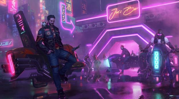 HD Wallpaper | Background Image Neon Future Cyberpunk Male