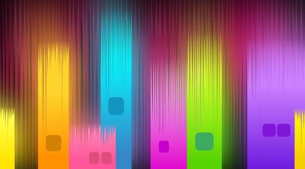 HD Wallpaper | Background Image Neon Gradient Glowing Shapes