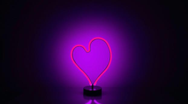 wxl neon light heart 62068