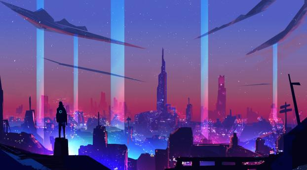 2560x1440 Neon Wave Futuristic City 1440p Resolution Wallpaper Hd Artist 4k Wallpapers Images Photos And Background