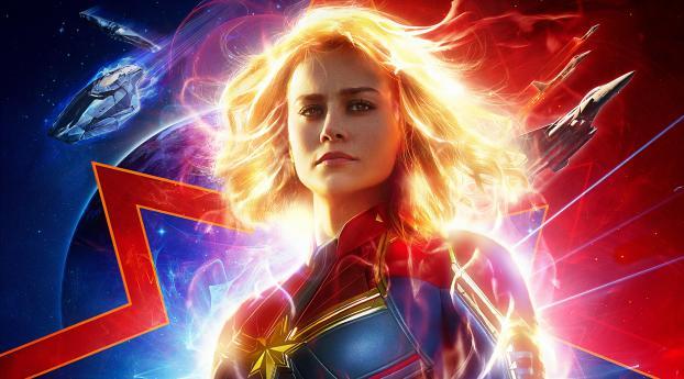 New Captain Marvel 2019 Movie Poster Wallpaper