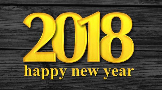 HD Wallpaper | Background Image New Year 2018 Happy New Year