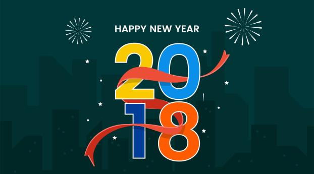 HD Wallpaper | Background Image New Year 2018