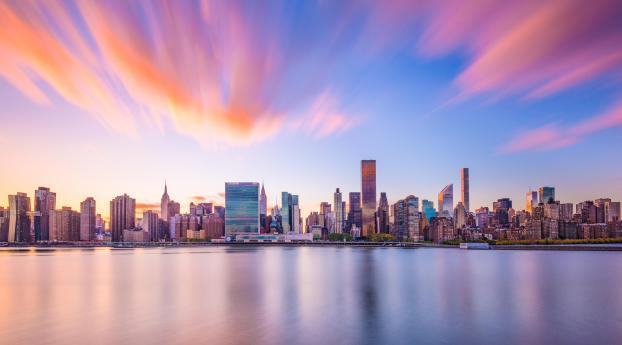 New York Skyscraper 5K Wallpaper 1366x768 Resolution