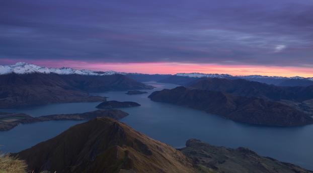 New Zealand Mountains Dawn Lake Wallpaper