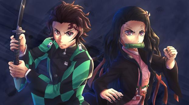 Nezuko Kamado And Tanjirou Kamado Wallpaper Hd Anime 4k