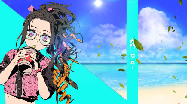 Nezuko Kamado Cool Art Wallpaper 2048x2048 Resolution