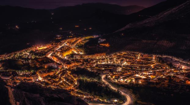 1242x2688 Night City Top View City Lights Iphone Xs Max